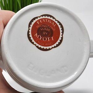 Myott Kitchen - Vintage Myott Festival Pattern Ironstone Creamer